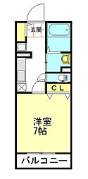 東武東上線 鶴ヶ島駅 徒歩5分の賃貸アパート 1階1Kの間取り