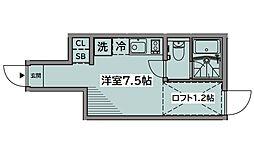 JR中央線 四ツ谷駅 徒歩13分の賃貸テラスハウス 1階ワンルームの間取り