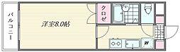 ピュア松香台[206号室]の間取り