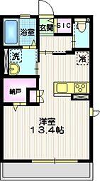 横浜市営地下鉄ブルーライン 上永谷駅 徒歩10分の賃貸アパート 1階ワンルームの間取り