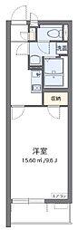 西武池袋線 入間市駅 徒歩15分の賃貸マンション 3階1Kの間取り