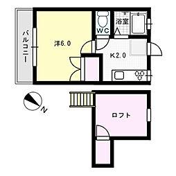 ラベンダハウスII[2階]の間取り