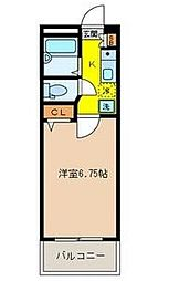 コンフェスト晋栄III[2階]の間取り