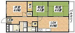 さんさん宮町[3階]の間取り