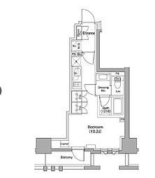 ザ・パークハビオ碑文谷 2階ワンルームの間取り