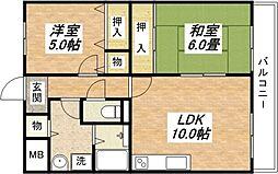 大阪府八尾市竹渕4丁目の賃貸マンションの外観
