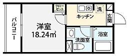 JR京浜東北・根岸線 大宮駅 徒歩13分の賃貸アパート 3階1Kの間取り
