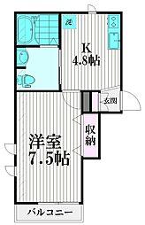 東京都品川区西品川1丁目の賃貸マンションの間取り