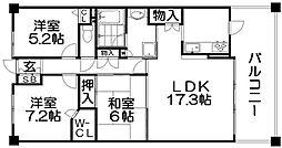 ステイツ枚方香里ヶ丘[5階]の間取り