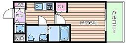 クレアート大阪トゥールビヨン[6階]の間取り