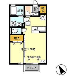 グランモア新豊 A棟[2階]の間取り