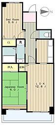 コーポレート相模原三丁目[2階]の間取り