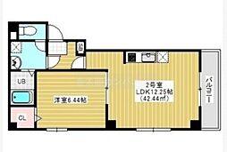 JR総武線 千葉駅 徒歩15分の賃貸マンション 2階1LDKの間取り