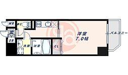 JR大阪環状線 寺田町駅 徒歩6分の賃貸マンション 6階1Kの間取り