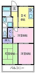 北野田大発マンション[4階]の間取り