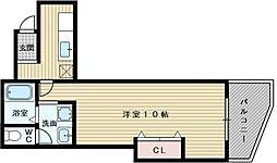エバーグリーン淀川4号館[1階]の間取り