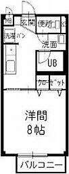 静岡県湖西市岡崎の賃貸アパートの間取り