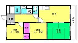 ベルトピア東加古川[305号室]の間取り