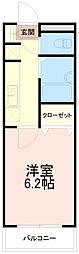 ロイヤル稲城[2階]の間取り