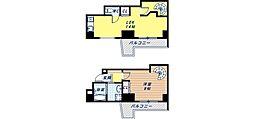Osaka Metro御堂筋線 大国町駅 徒歩3分の賃貸マンション 4階1LDKの間取り