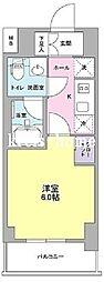 東京都千代田区富士見2丁目の賃貸マンションの間取り