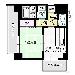 ライオンズマンション西公園第5[13階]の間取り