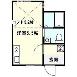ベイルーム戸塚II[1階]の間取り