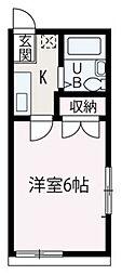 埼玉県朝霞市東弁財3丁目の賃貸アパートの間取り