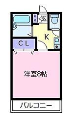 パークサイド[1階]の間取り