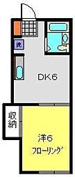 ハイツナカムラA[205号室]の間取り