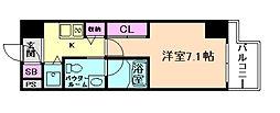 リンクハウス京町堀[8階]の間取り