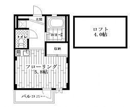 東京都杉並区和田3の賃貸マンションの間取り