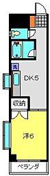 神奈川県川崎市中原区小杉御殿町1丁目の賃貸マンションの間取り