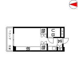 サンピア倉敷[208号室]の間取り