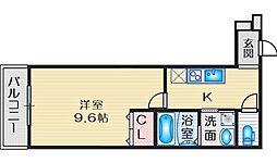 Osaka Metro御堂筋線 江坂駅 徒歩13分の賃貸アパート 3階1Kの間取り