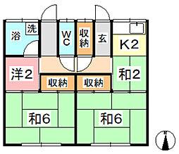 [一戸建] 岡山県倉敷市玉島阿賀崎2丁目 の賃貸【/】の間取り