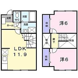 [テラスハウス] 神奈川県横浜市栄区上郷町 の賃貸【神奈川県 / 横浜市栄区】の間取り