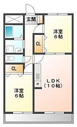 愛知県豊田市挙母町1丁目の賃貸マンションの間取り