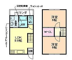 三六荘ビル[2階]の間取り