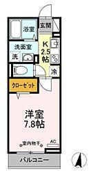 東武伊勢崎線 竹ノ塚駅 徒歩12分の賃貸アパート 3階1Kの間取り