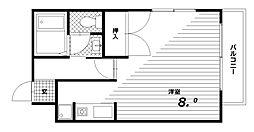 ハイツスズラン[1階]の間取り