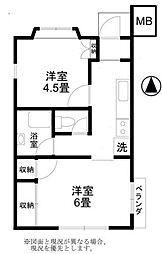 トライナルファーストマンション[1階]の間取り