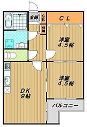 サンコート須磨[2階]の間取り