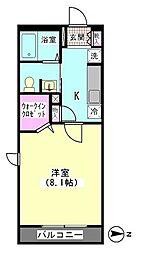 シルキーツリー[206号室]の間取り