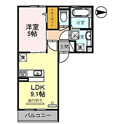 Osaka Metro御堂筋線 新金岡駅 徒歩13分の賃貸アパート 3階1LDKの間取り