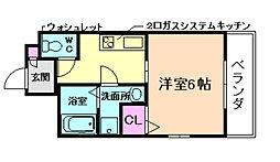 大阪府大阪市西区江戸堀3丁目の賃貸マンションの間取り