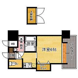福岡県福岡市東区馬出1丁目の賃貸マンションの間取り
