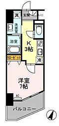 東武伊勢崎線 越谷駅 徒歩5分の賃貸マンション 5階1Kの間取り
