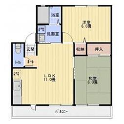 愛知県豊田市小坂本町1丁目の賃貸アパートの間取り