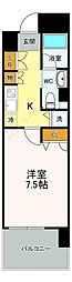 ジェイシティ八丁堀(J'city八丁堀) 7階1Kの間取り